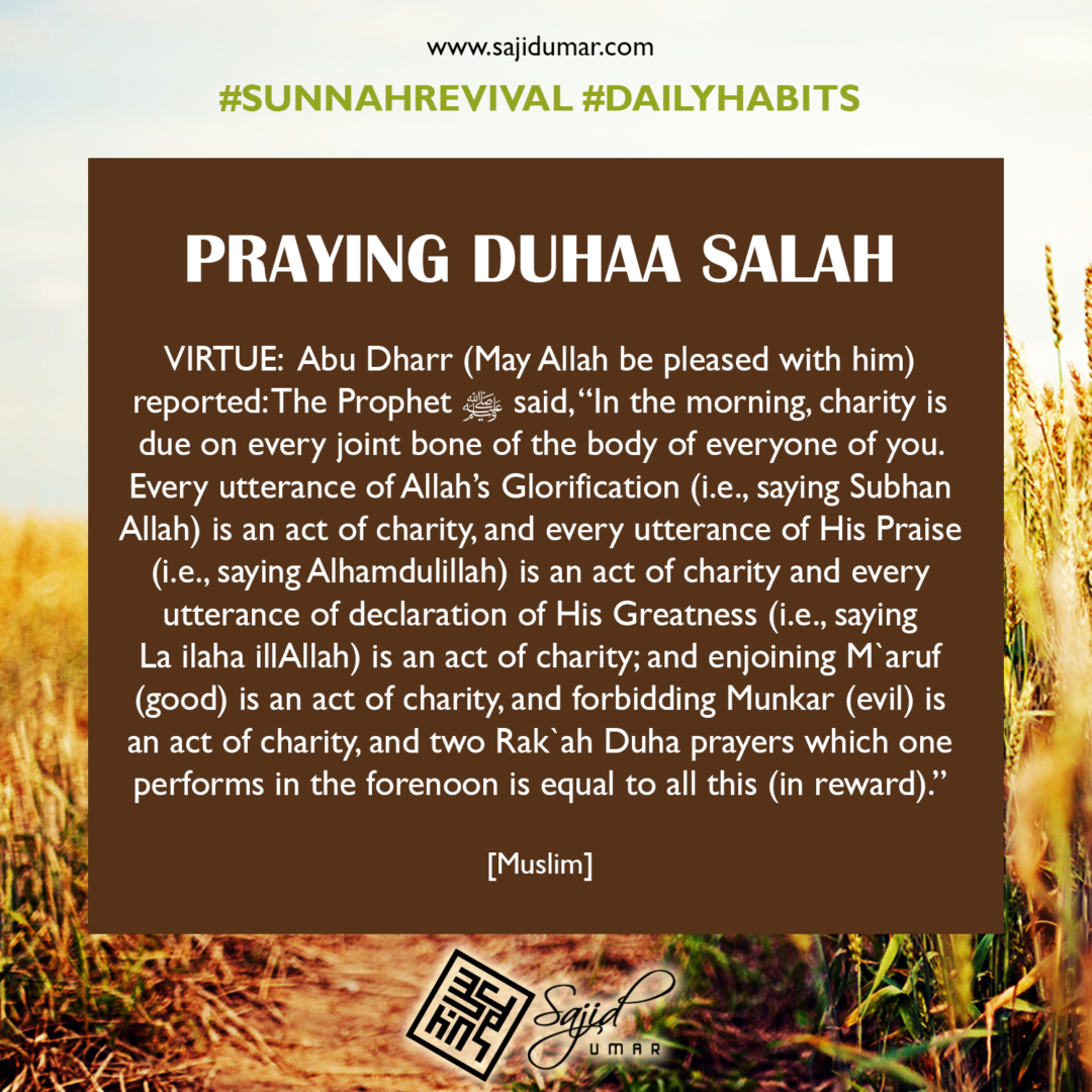 Praying Duhaa salah