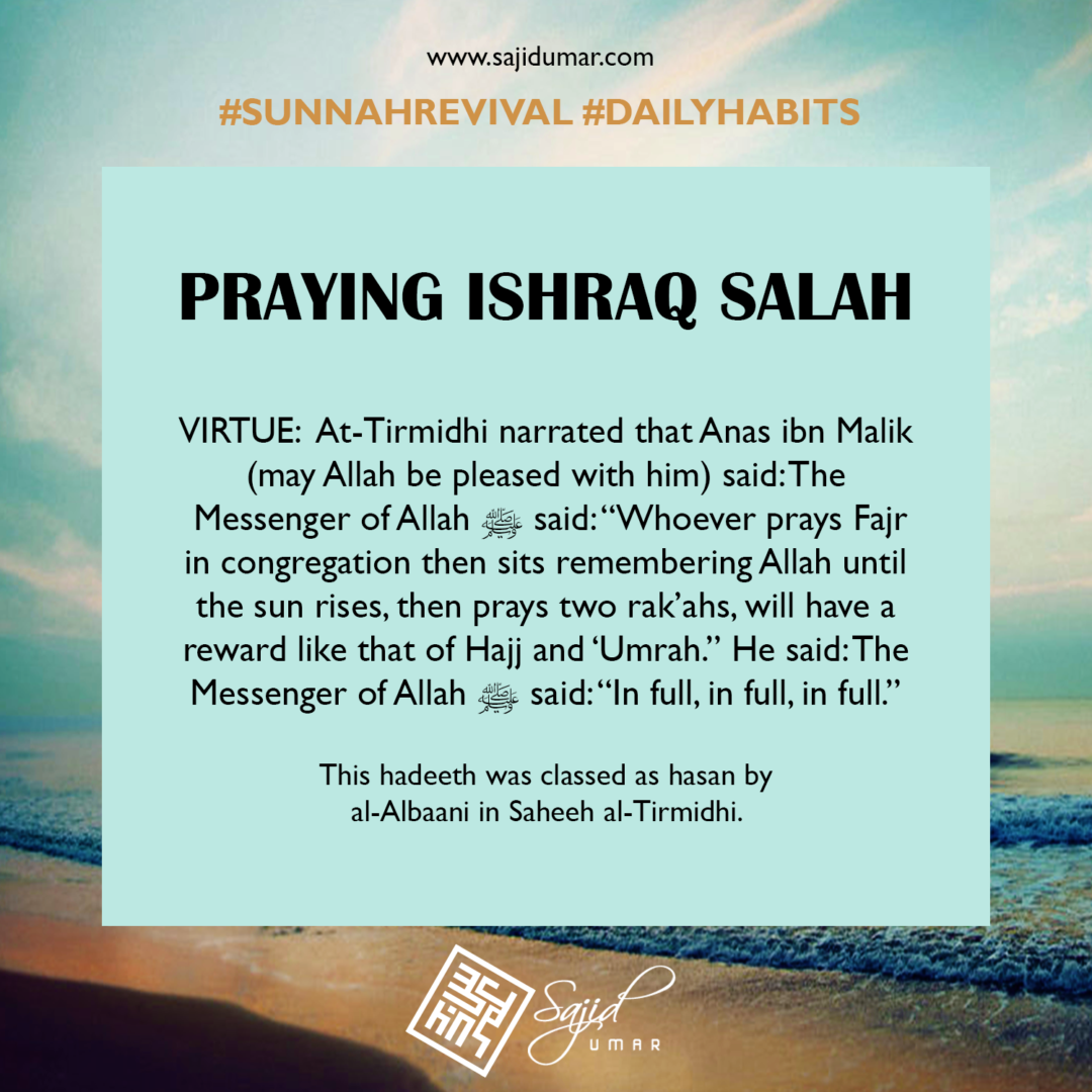 Praying ishraq salah