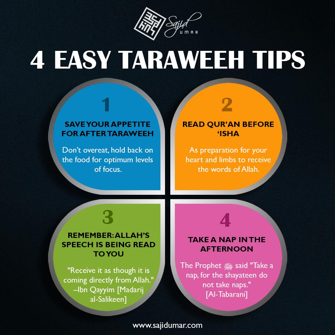 Taraweeh tips